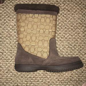 Coach Cozy Boots size 8